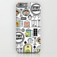 Pattern Stay Happy Animals iPhone 6 Slim Case