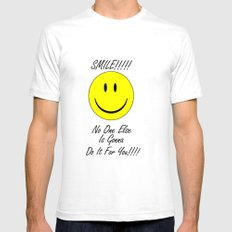 Smile    Mens Fitted Tee SMALL White