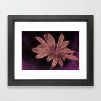 Psychedelic Flower Framed Art Print