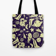 Tote Bag featuring Spacely by Dylan Morang