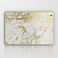 Laptop & iPad Skin featuring Gold Marble by Marta Olga Klara