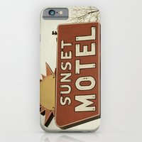 iPhone & iPod Case featuring Sunset Motel by angela haugland
