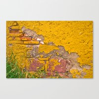 Canvas Print featuring Mexico in Yellow by Jaime Lynn Photography