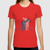 Menswear Womens Fitted Tee Red SMALL