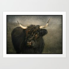 The Black Cow Art Print