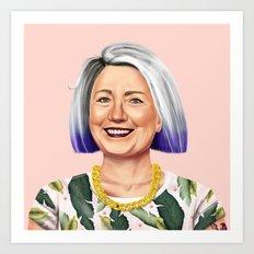 Hipstory - Hillary Clinton Art Print