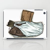 Flatfish And Mushrooms. iPad Case