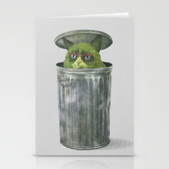 Grouchy Cat  Stationery Card