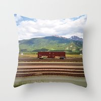 Train Car. Throw Pillow