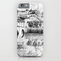 iPhone & iPod Case featuring Terrasson village - Black ink by Nicolas Jolly