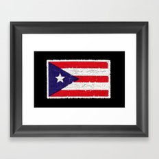 Puerto Rican Flag Framed Art Print