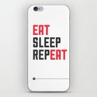 EAT SLEEP REPEAT iPhone & iPod Skin