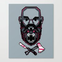 Wild BEARd Canvas Print