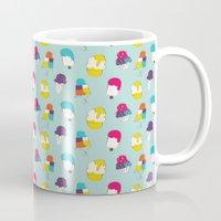 Ice cream pattern - light blue Mug