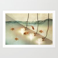 Ideas And Goldfish Art Print