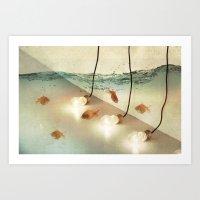 Ideas And Goldfish Art Print