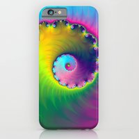 iPhone & iPod Case featuring Color Wash Spiral by Objowl