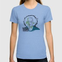 Doc Brown_INK - Back to the Future Womens Fitted Tee Athletic Blue SMALL