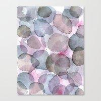 Purple Planets Canvas Print