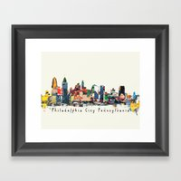 Philadelphia Skyline Com… Framed Art Print