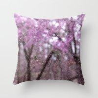Spring Rain Throw Pillow