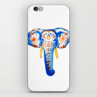 Elephant Watercolor Print iPhone & iPod Skin