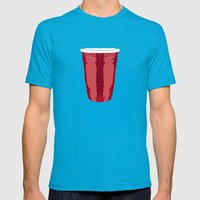 Clarity Cup Red (Big) Mens Fitted Tee Teal SMALL