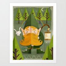The elf Art Print