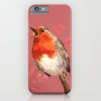 iPhone & iPod Case featuring Winter Herald, Robin, Robin Redbreast, Christmas Bird by eastwitching