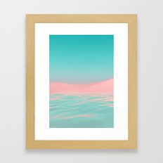 Pink Beach Framed Art Print