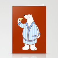 Burger Bear Stationery Cards