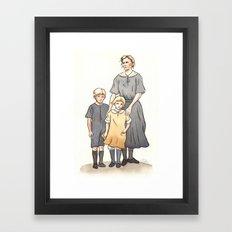 My Family in the 1920s Framed Art Print