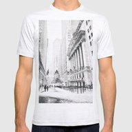 New York City Christmas Mens Fitted Tee Ash Grey SMALL