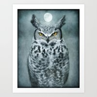 By The Light Of The Moon… Art Print