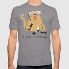 lab-rador Mens Fitted Tee Tri-Grey SMALL