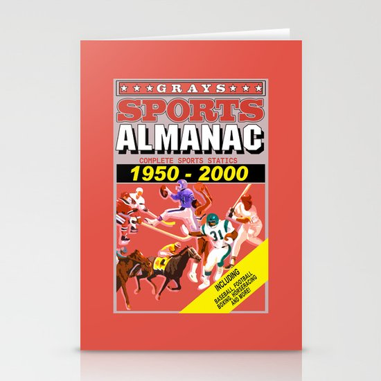 Back to the Future: Sports almanac Stationery Card
