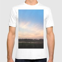 Sunset Drive By Mens Fitted Tee White SMALL