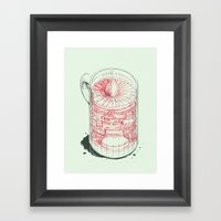 Coffee Jet Framed Art Print