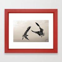 Gulls. Framed Art Print