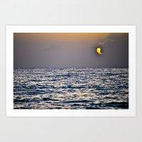 Key Sunset Art Print