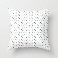 Watercolor´s Dots Throw Pillow