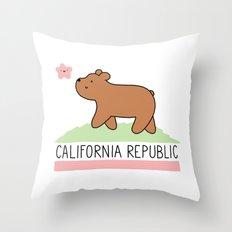 Kawaii California Republ… Throw Pillow