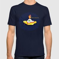 Yellow Submarine Mens Fitted Tee Navy SMALL