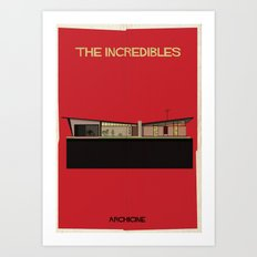 The incredibles Directed by Brad Bird Art Print