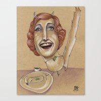 CHINCHILLA TEA PARTY Canvas Print