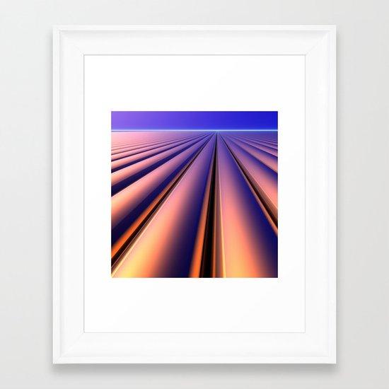 As Far as the Eye Can See Framed Art Print