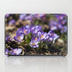 Purple Crocuses iPad Case