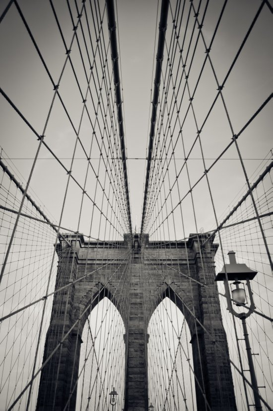 Brooklyn Bridge B/W | New York City Art Print