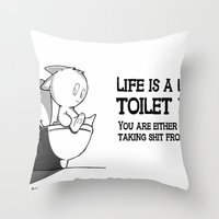 Life Is A Lot Like Toile… Throw Pillow