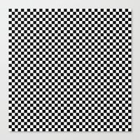 Black and White Checkers Canvas Print